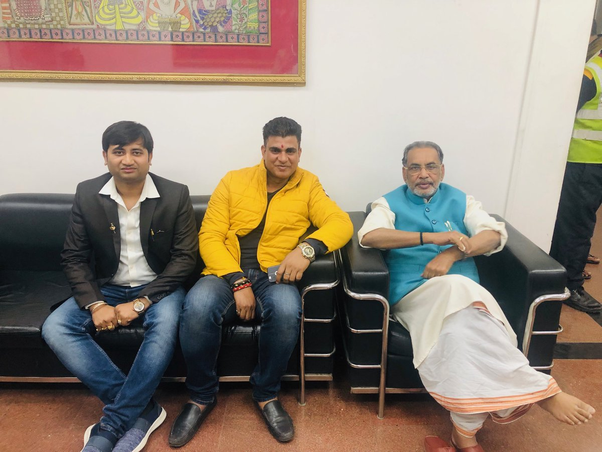 Some time spend with union agriculture minister and fifth term Mp from Purvi Champaran,Bihar ⁦@RadhamohanBJP⁩ and ⁦@BJP4Delhi⁩ spokesperson ⁦@RahulTBJP⁩   ⁦@BJP4India⁩