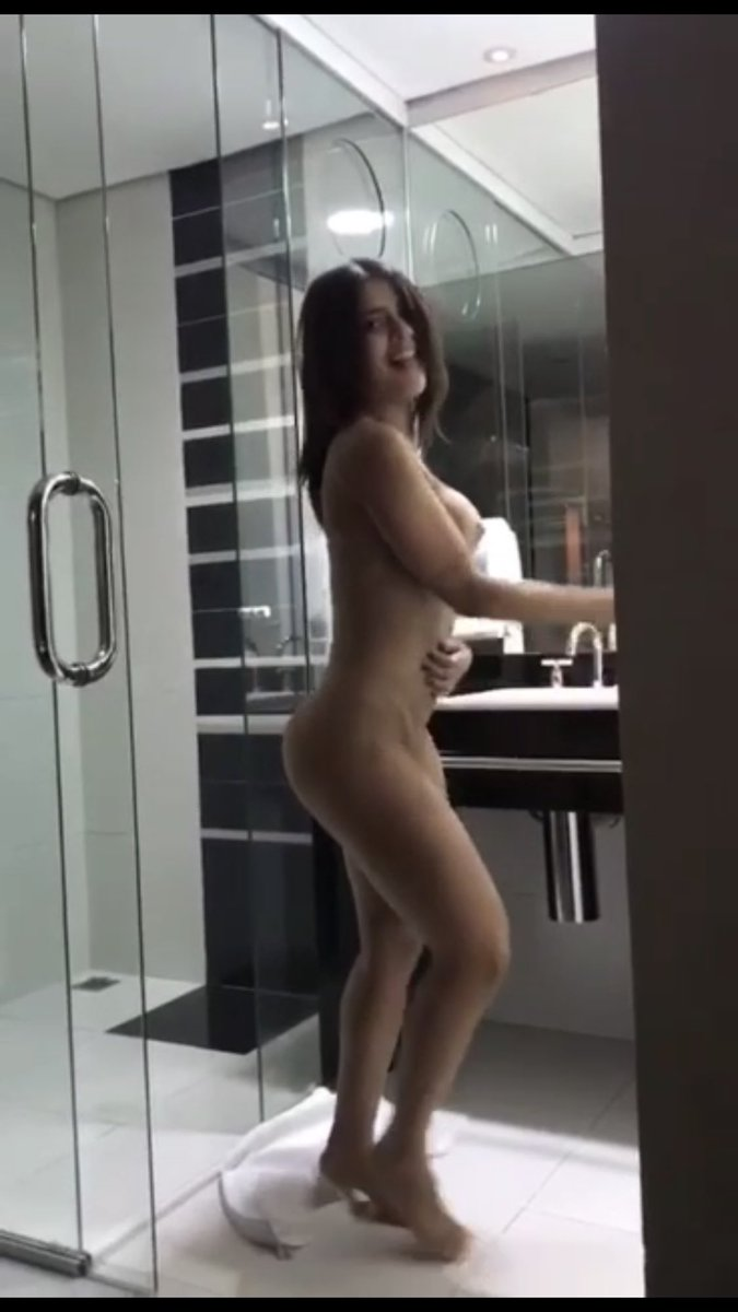 Sexy Brunette Dancing Naked