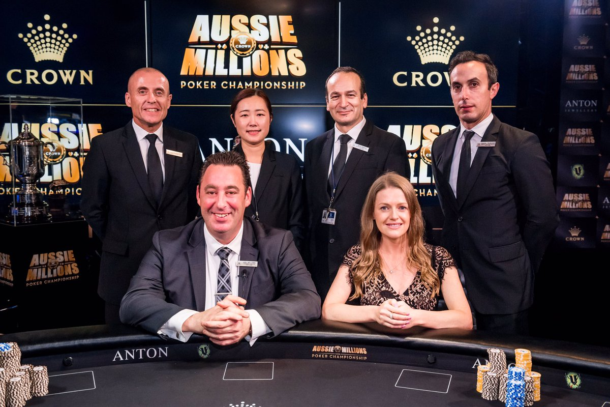 Crown Poker On Twitter The Aussiemillions Tournament Team Looking A Touch Tired
