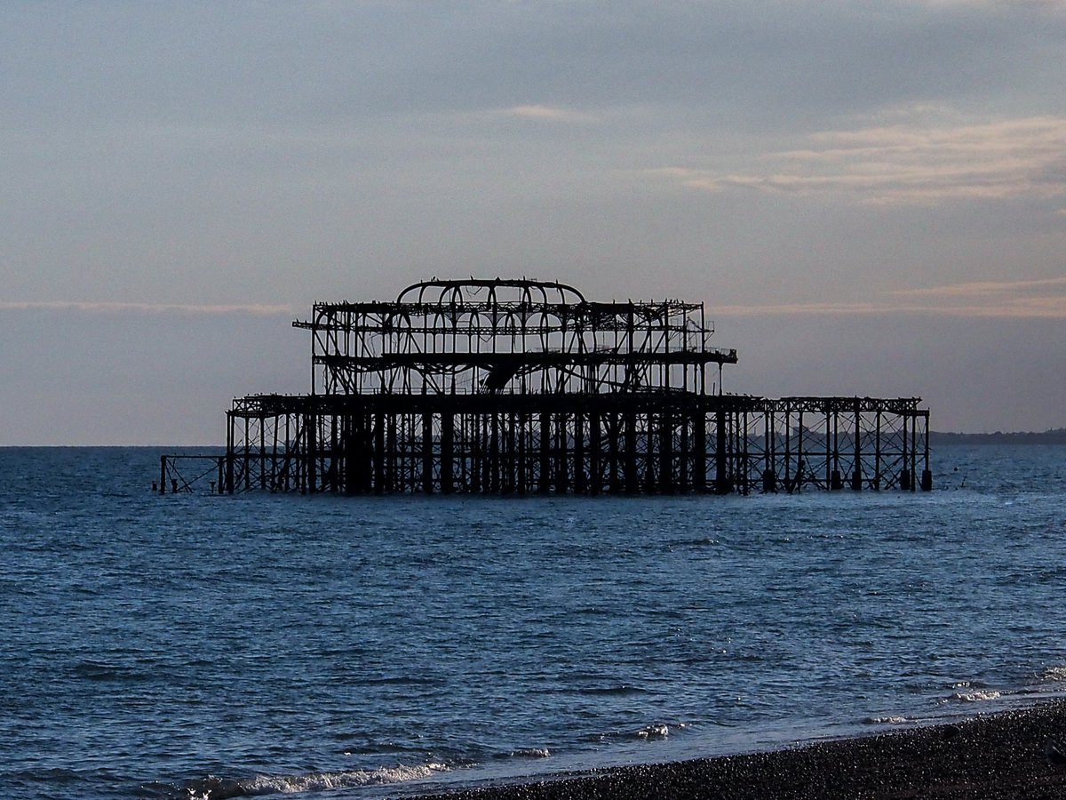 Old Brighton pier after it burned down. #photography #photo #beach #Brighton