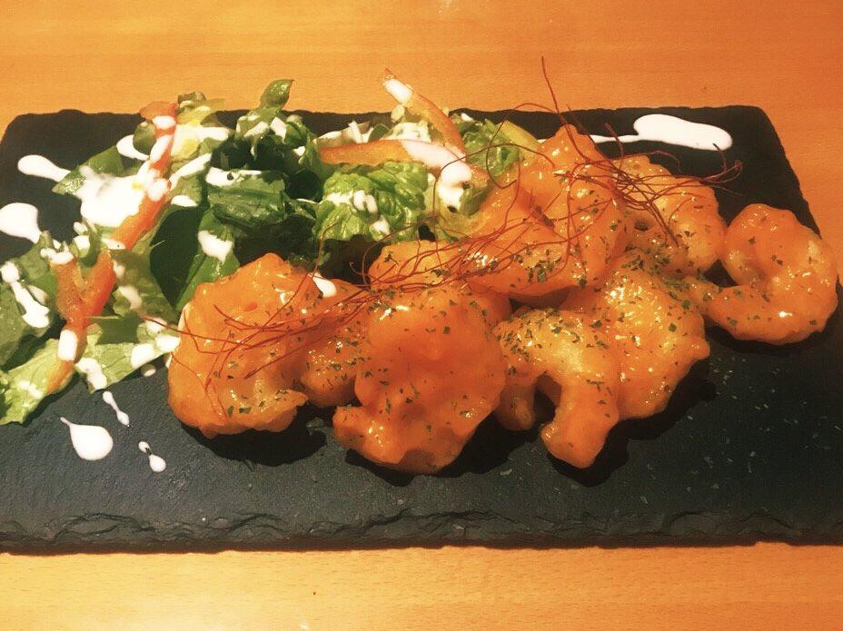 自家製ソースのエビマヨです^_^ サクサクの食感と甘辛タレがたまりません。#大阪 #福島駅 #福島居酒屋 #グルメ #個室 #飲み放題 #エビマヨ #肉 #チーズ #ワイン https://t.co/4BaPv6tLSY