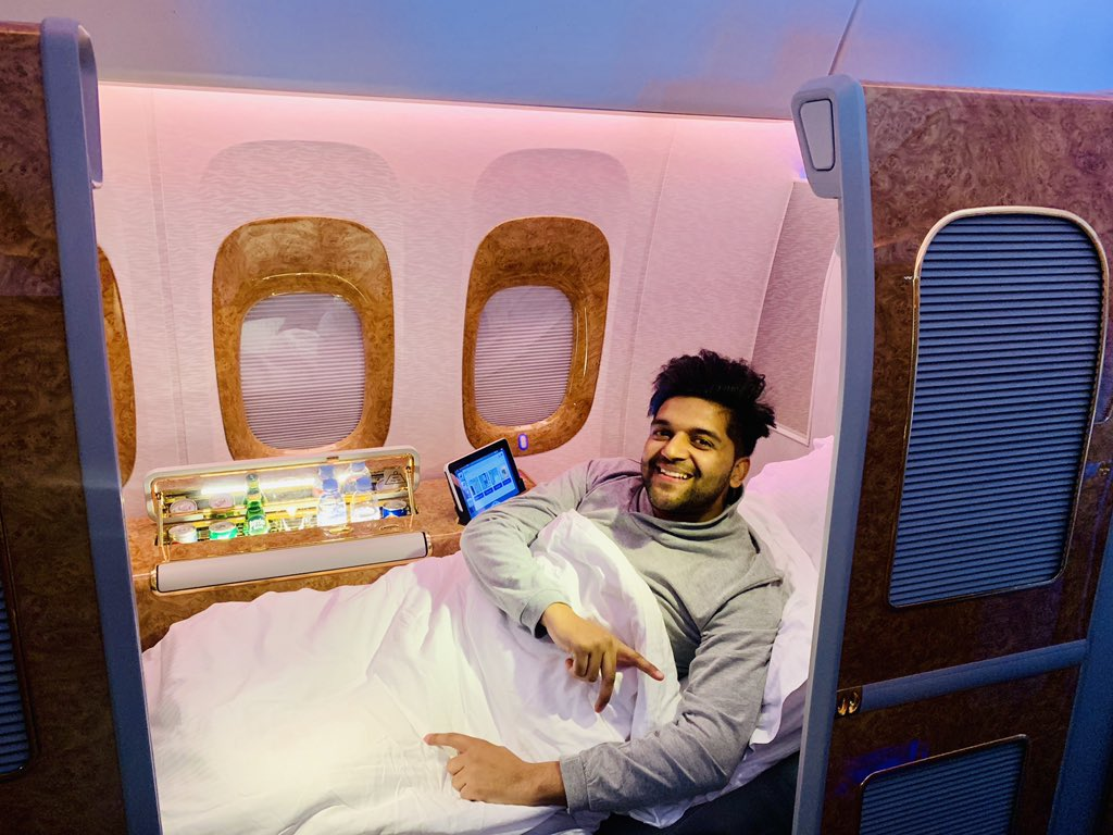 Flying back to India after great concert in Nairobi 🙏 Emirates is my all time favourite ❤️ @emirates ❤️