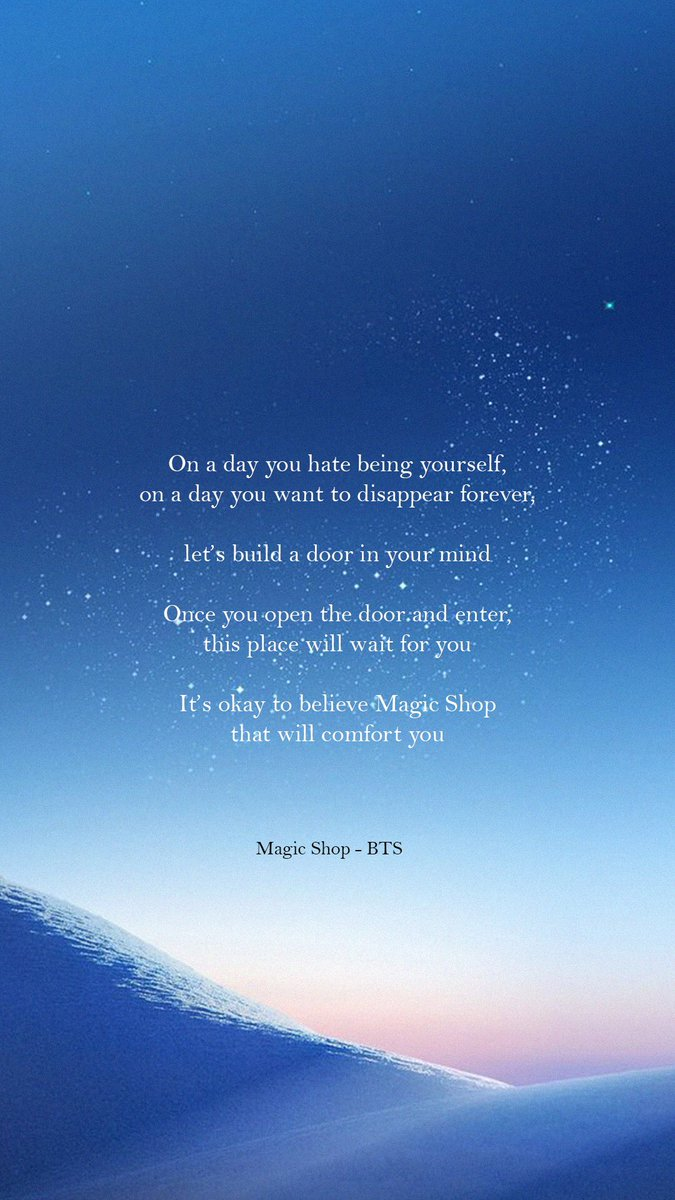 Bts Lyrics On Twitter On A Day You Hate Being Yourself Magic
