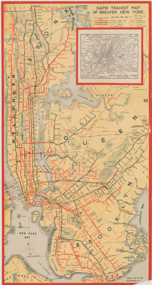Greater New York Subway Map.Ny Transit Museum On Twitter After Expansion In The 1920s