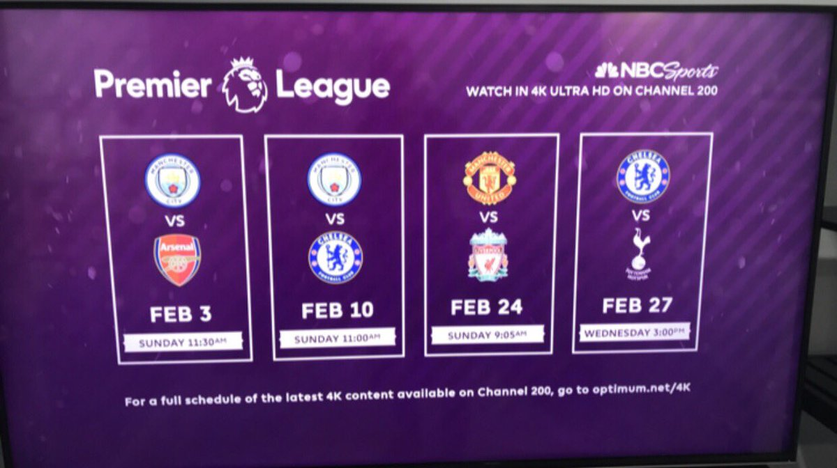 Optimum On Twitter Mancity Vs Arsenal Two Great Clubs Face Off In A Fight For Competing Goals Watch Nbcsports Coverage In 4k Ultra Hd On Ch 200 With Altice One Https T Co Mdmg7edfrs