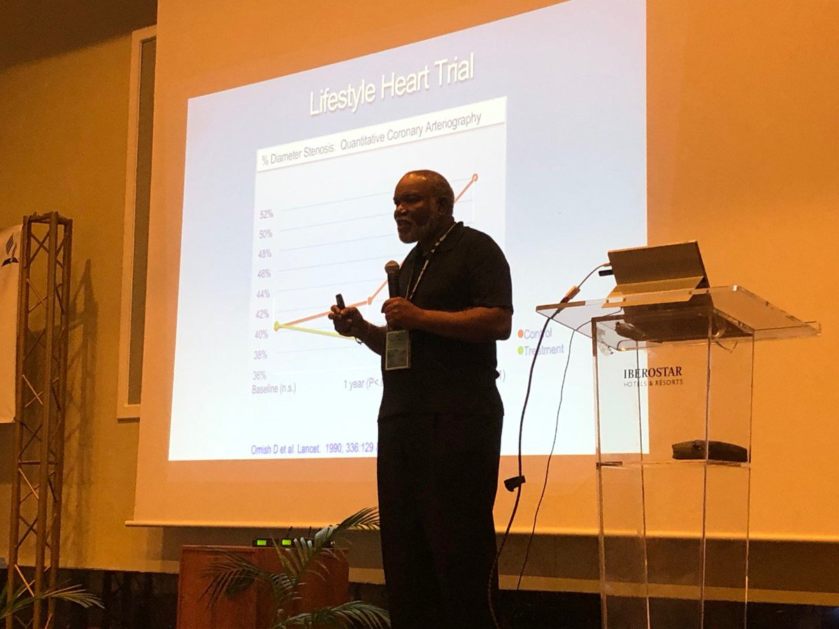 Dr. Zeno Charles-Marcel: Lifestyle change is as potent as taking medicine. (&quot;Lifestyle change&quot; is eating better, exercising, and lowering stress.) #GLS18 Photo: @Doug_Venn<br>http://pic.twitter.com/z3Xcz7fIG7