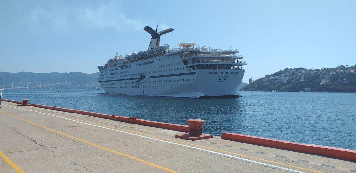 Listo el Crucero Magellan para el inicio de la ruta Riviera Mexicana.   #MagellanDesdeAcapulco