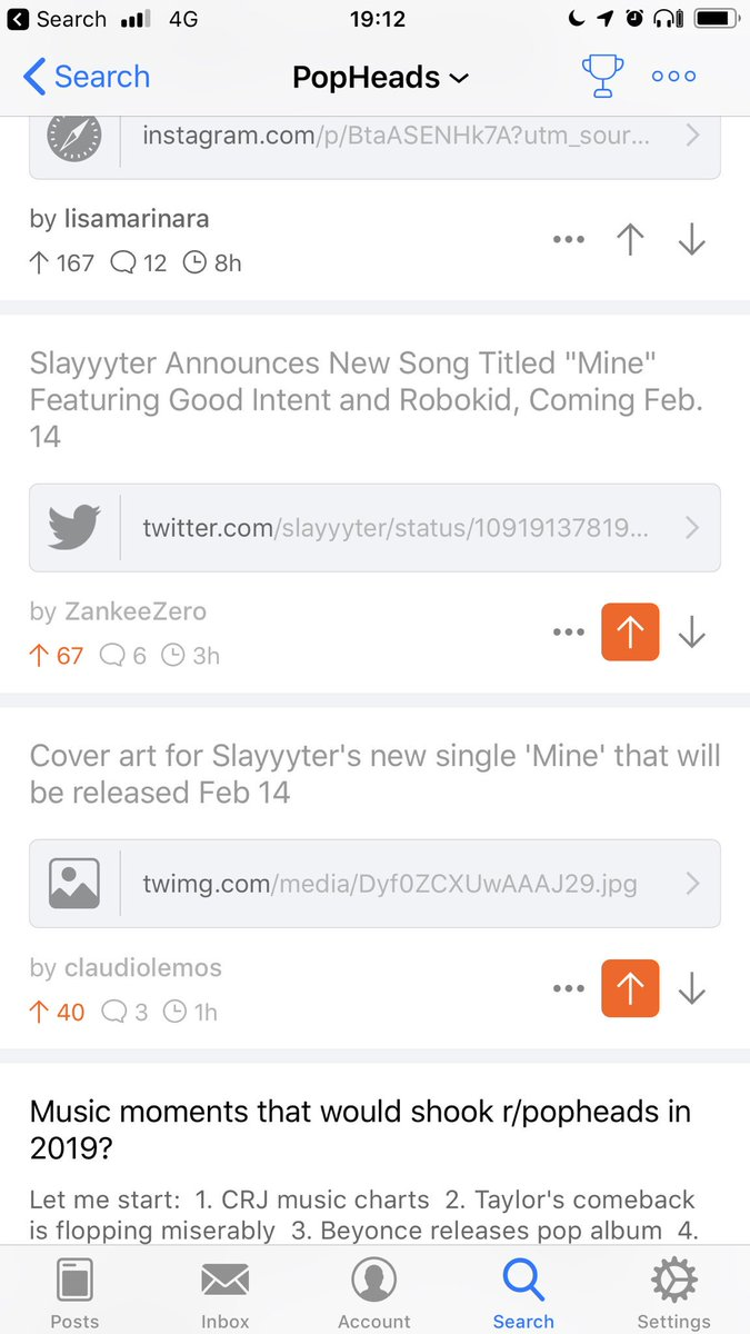 Slayyyter is taking over Reddit popheads subreddit! The second and