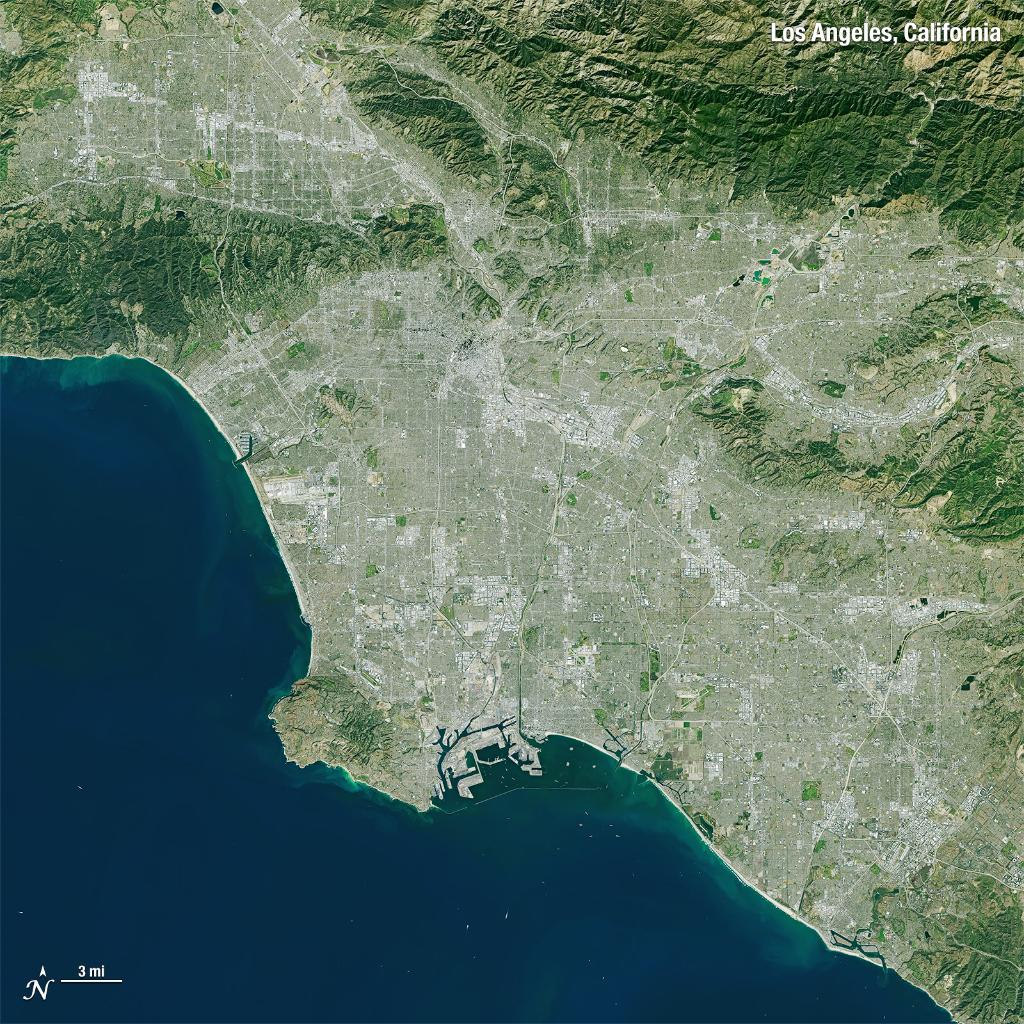 #DidYouKnow our satellites have captured images of the Earth's land surface since 1972? 🌍 Before checking out #SuperBowl2019, take a look at the @RamsNFL hometown - the City of Angels - and other images of our home planet: https://go.nasa.gov/2SpXer0