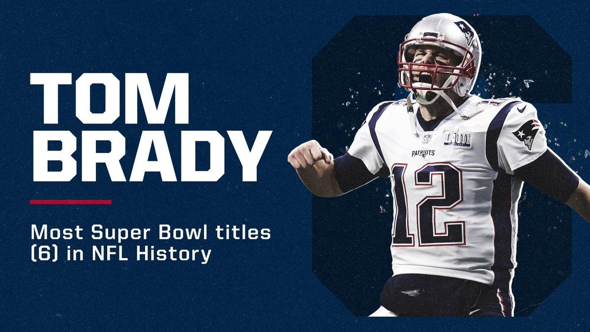 No NFL player has more Super Bowl wins than Tom Brady 💍