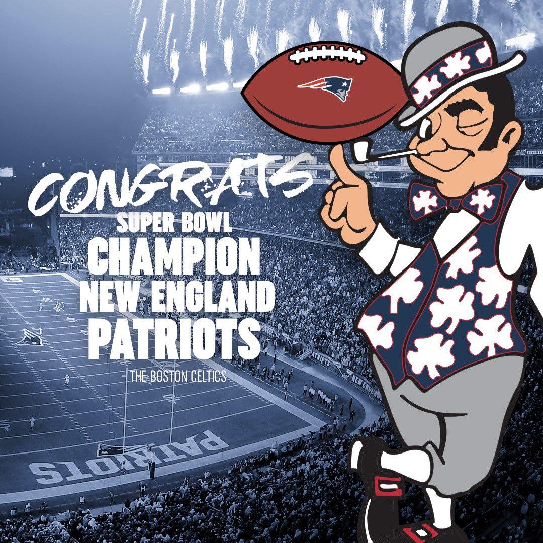 🏆🏆🏆🏆🏆🏆  Congrats @Patriots!