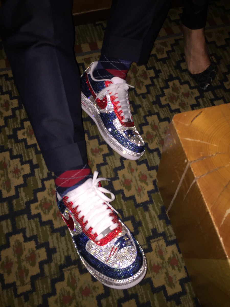 f4bf0158ca645 congrats to robert kraft his new england and these air force 1s he wore  during super