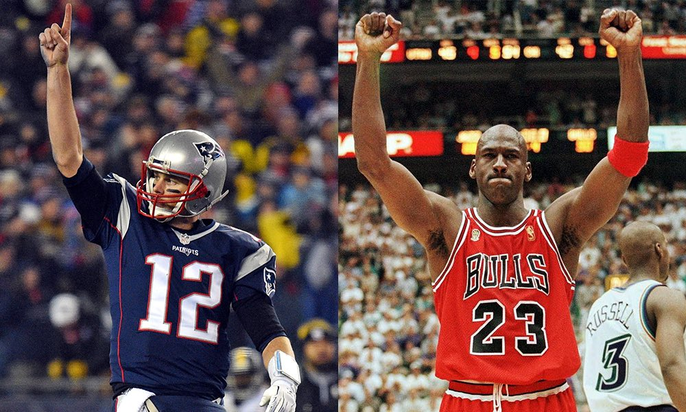 Brady got 6. MJ got 6. Who is greater all time in respect to their own sport and field?   RT for Tom Brady   Like for MJ