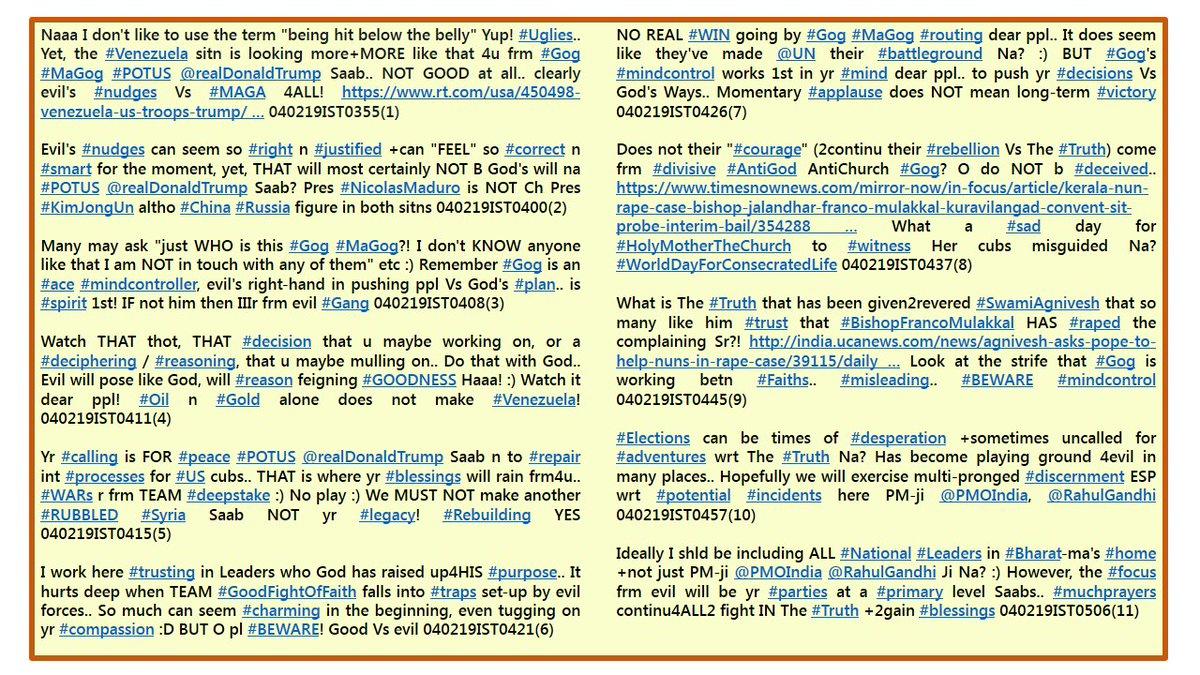 incidences hashtag on Twitter