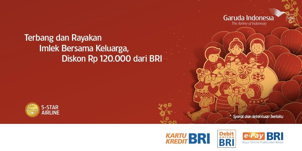 Gunakan kartu Kredit dan Debit BRI atau e-Pay BRI untuk nikmati tambahan  diskon hingga Rp120.000. Klik http   bit.ly 2S8IoWH untuk dapatkan kode ... e64be713e1