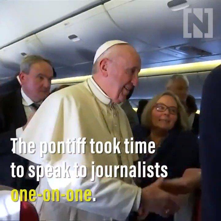 Here's a look at what it was like on board Pope Francis's 'Shepherd One' flight to the UAE https://bit.ly/2S92BeP  #PopeFrancisInUAE #البابا_فرنسيس_في_الإمارات