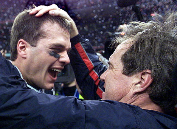 Tom Brady and Bill Belichick have 17 seasons between their first and most recent title (2001 & 2018).  That's the longest span by a coach-player duo in the NFL, NBA, MLB or NHL (via @EliasSports).  They passed Tim Duncan & Gregg Popovich (15 seasons).