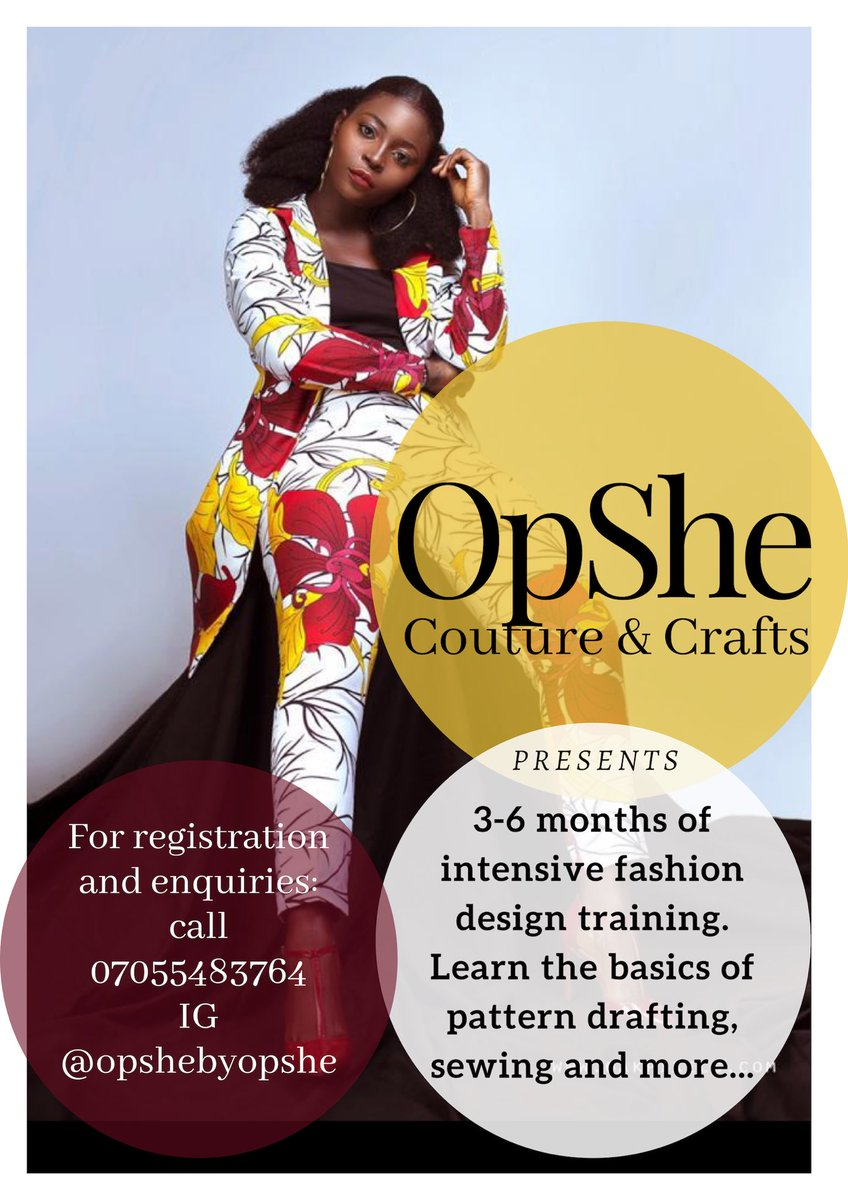 Opeyemi Ademola On Twitter Kindly Retweet And Let S Trend Like Worldwizkidday Learn The Basics Of Fashion Design And Sew Like A Pro Mondaymotivation Retweet Training Fashiondesign Bbnaija Opshebyopshe Lagos Https T Co 1juhxve8wh