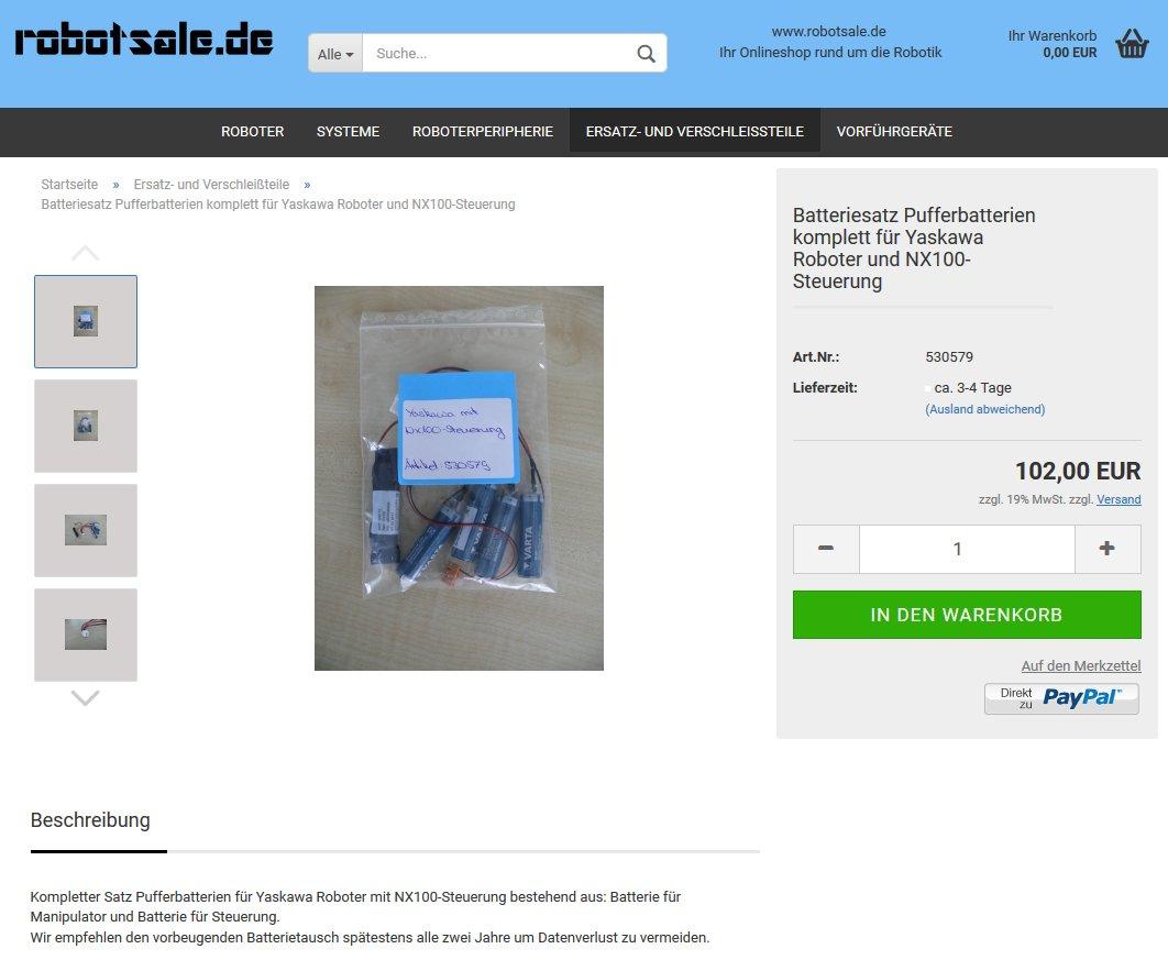 #Pufferbatterien#Set komplett für #Yaskawa Roboter und #NX100 Steuerung für 102€ zzgl. MwSt im #Onlineshop: https://www.robotsale.de/product_info.php?info=p28_batteriesatz-pufferbatterien-komplett-fuer-yaskawa-roboter-und-nx100-steuerung.html… @robotsale_de