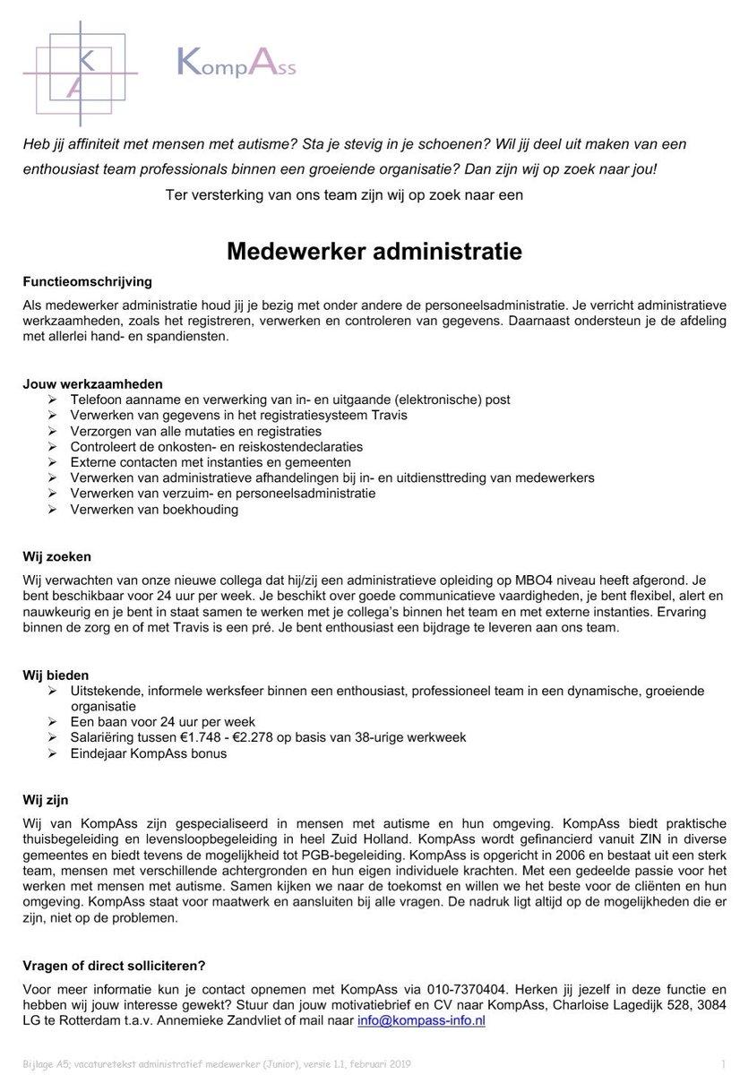 motivatiebrief administratie KompAss (autisme) (@KompAss_info) | Twitter