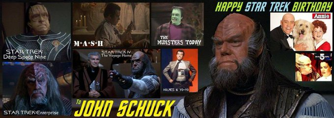 Happy birthday John Schuck, born February 4,1940.