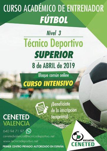 604c9a240eb7c CENETEDValencia  CENETEDValencia. ATENCIÓN 🔈 Próximos cursos en   CENETEDValencia ⚽ ✓ Técnico deportivo inicial. Nivel 1 ✓️
