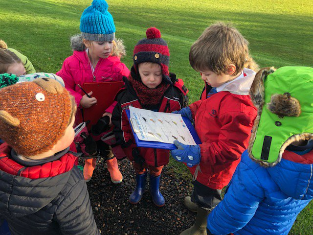 The children in Pre-school and Forms 1 and 2 have been out with their binoculars and clipboards this morning to take part in the #RSPB Big Schools' Birdwatch. Fortunately there was hot chocolate ready to warm everyone up afterwards! #LearningOutsideTheClassroom