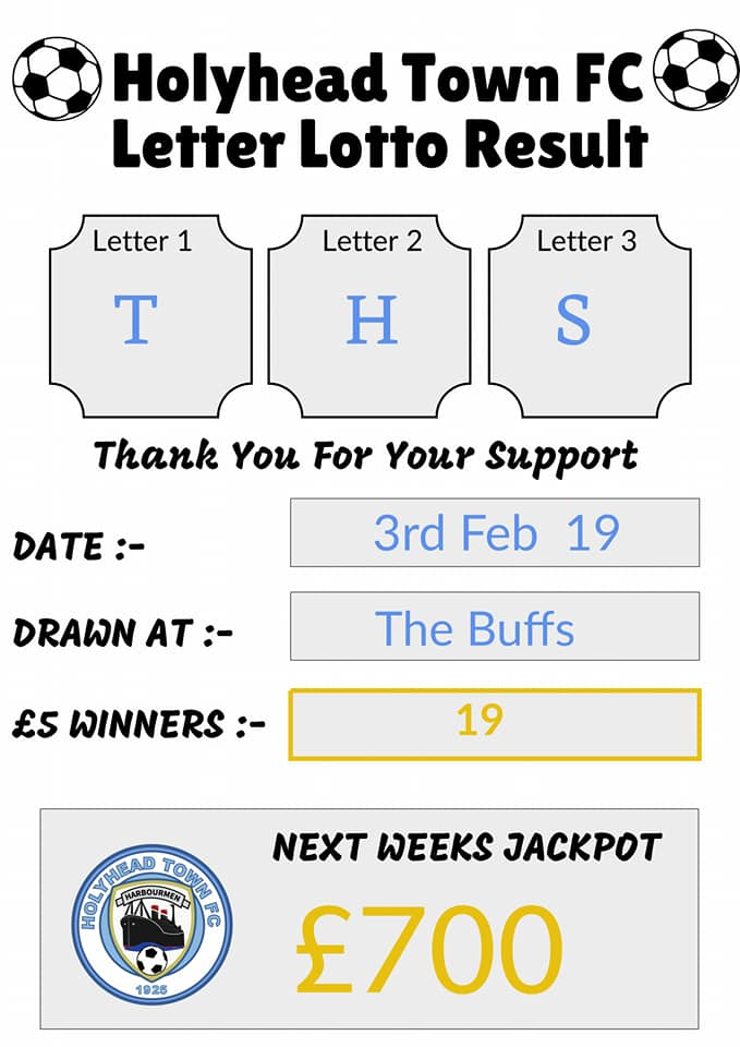 Jackpot not won, 19 x £5 winners, £700 first prize this Sunday!