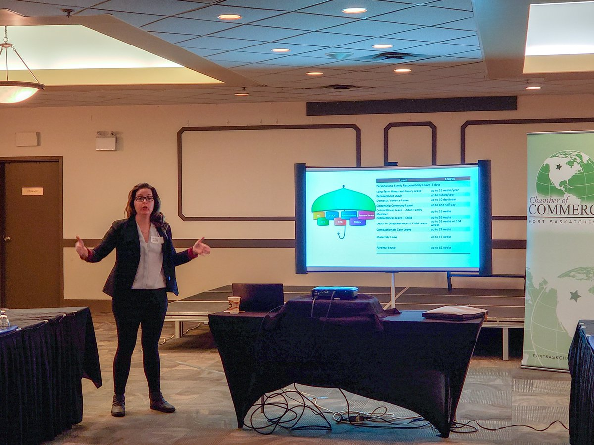 Lindsay Jacobs of Tenfold HR Consulting reviews Bill C17 and Bill C30 about changes in Alberta's Labour Standards. We are so grateful for these peer-to-peer educational opportunities and hot coffee on this cold Monday morning... thank you to Lakeview Inn & Suites! #ftsaskchamber
