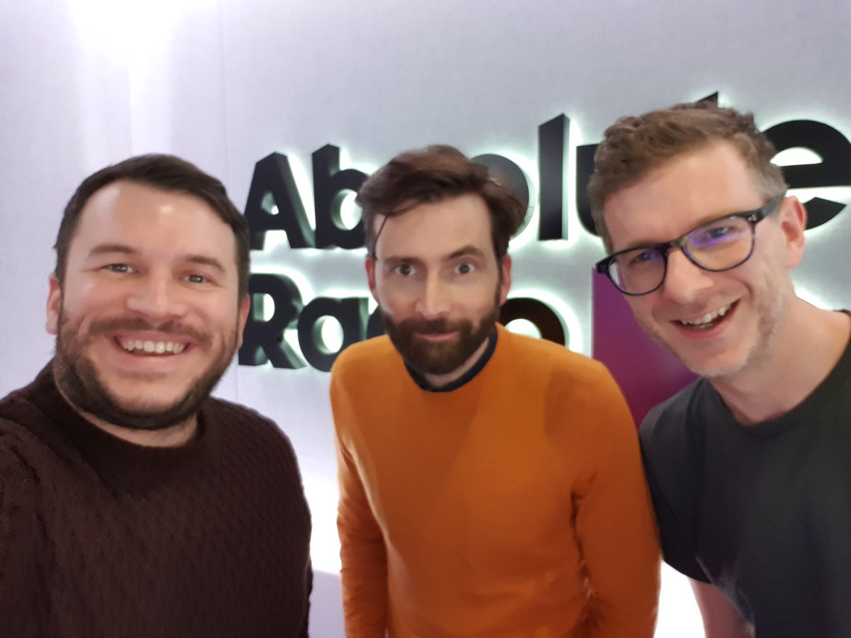 David Tennant with Andy Bush and Richie Firth at Absolute Radio - Monday 4th February 2019