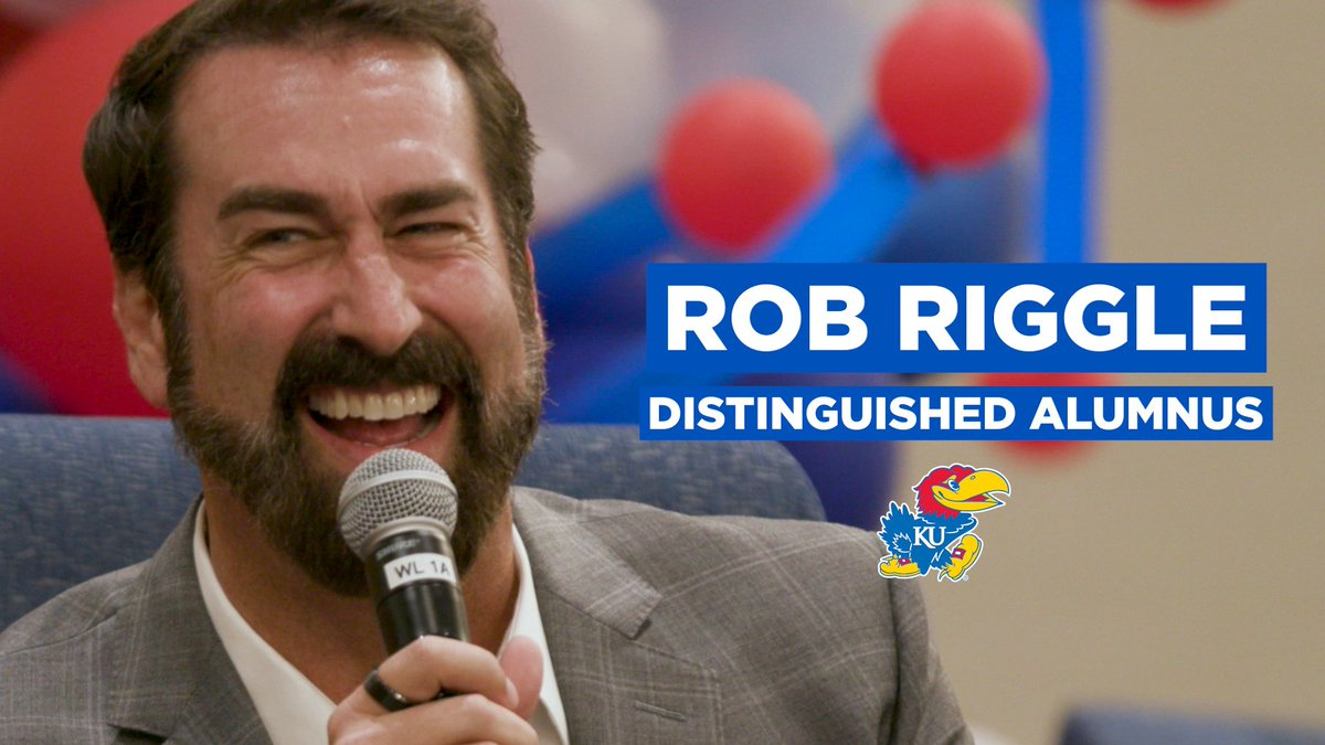 Being a Jayhawk is something special. But don't just take our word for it. Here's what actor @RobRiggle says about his experience at KU! The @KUCollege honored Riggle with its 2018 Distinguished Alumni Award. ➡️ http://rockcha.lk/rob-riggle #OurChantRises