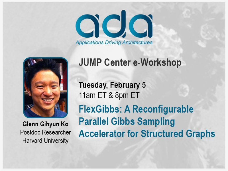 All ADA and JUMP Center sponsors, PIs, and students invited.