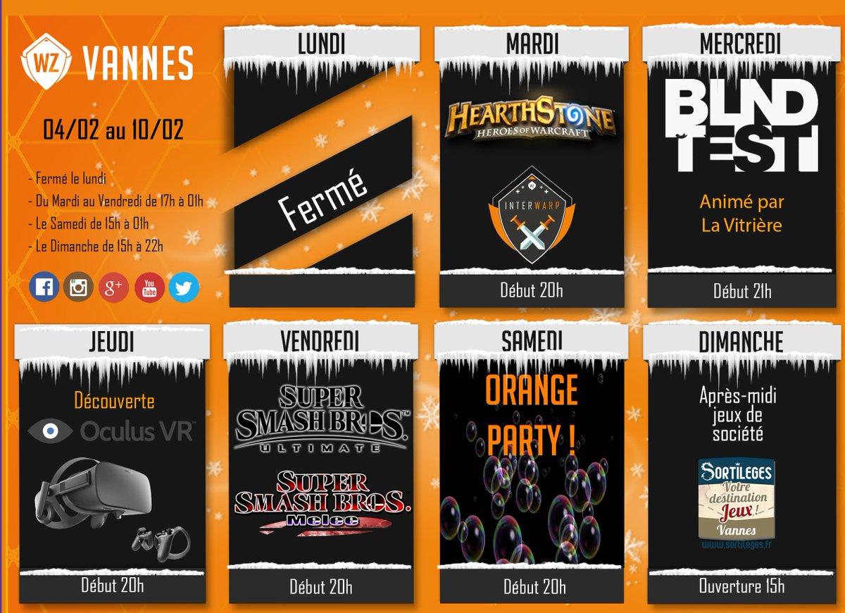 Planning de la semaine du 4 au 10 février ! #Hearthstone #blindtest #OculusRift #SmashBrosUltimate #SmashBrosMelee #orangeparty #Vannes