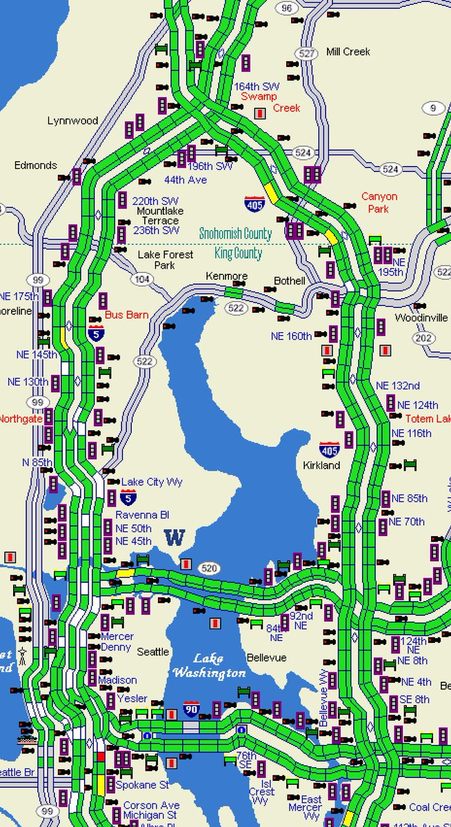 Wsdot Traffic On Twitter Up In The North End The Map Has A Lot Of