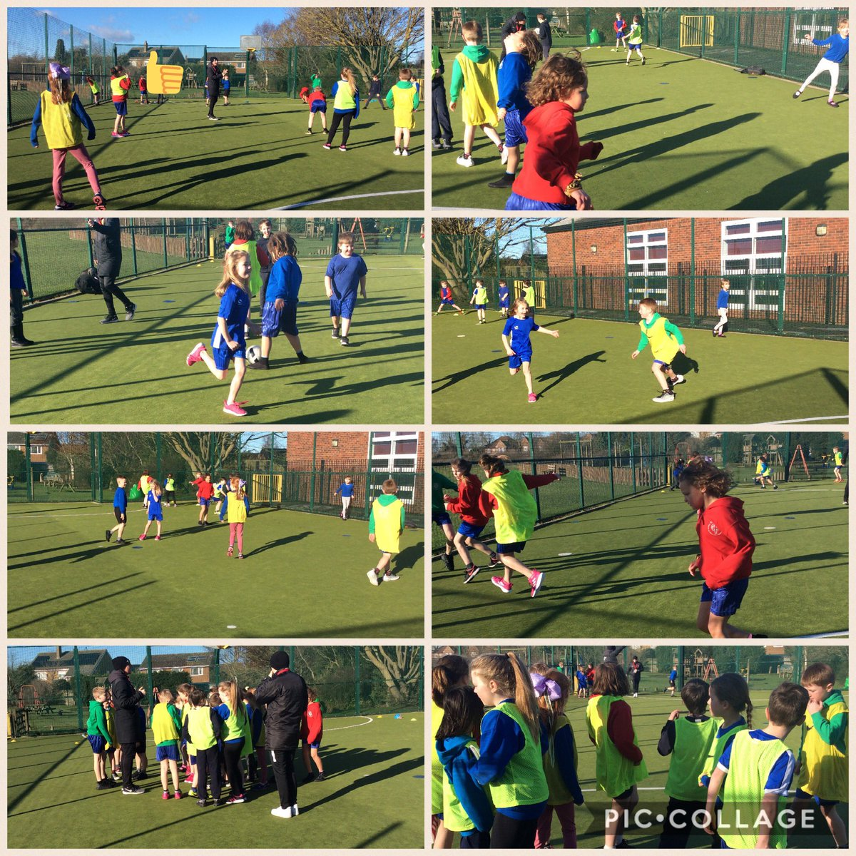 We are having a wonderful day of PE lessons with @tigerstrust in the glorious sunshine.