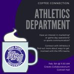 Join the Office of Student Success tomorrow for a Coffee Connection with the Athletics Marketing Team.  Learn about ways to get connected and get involved with the Panther teams.  11:30 am in the Graves Collaboratorium in Cottrell Hall.  #HPU365 #GoHPU