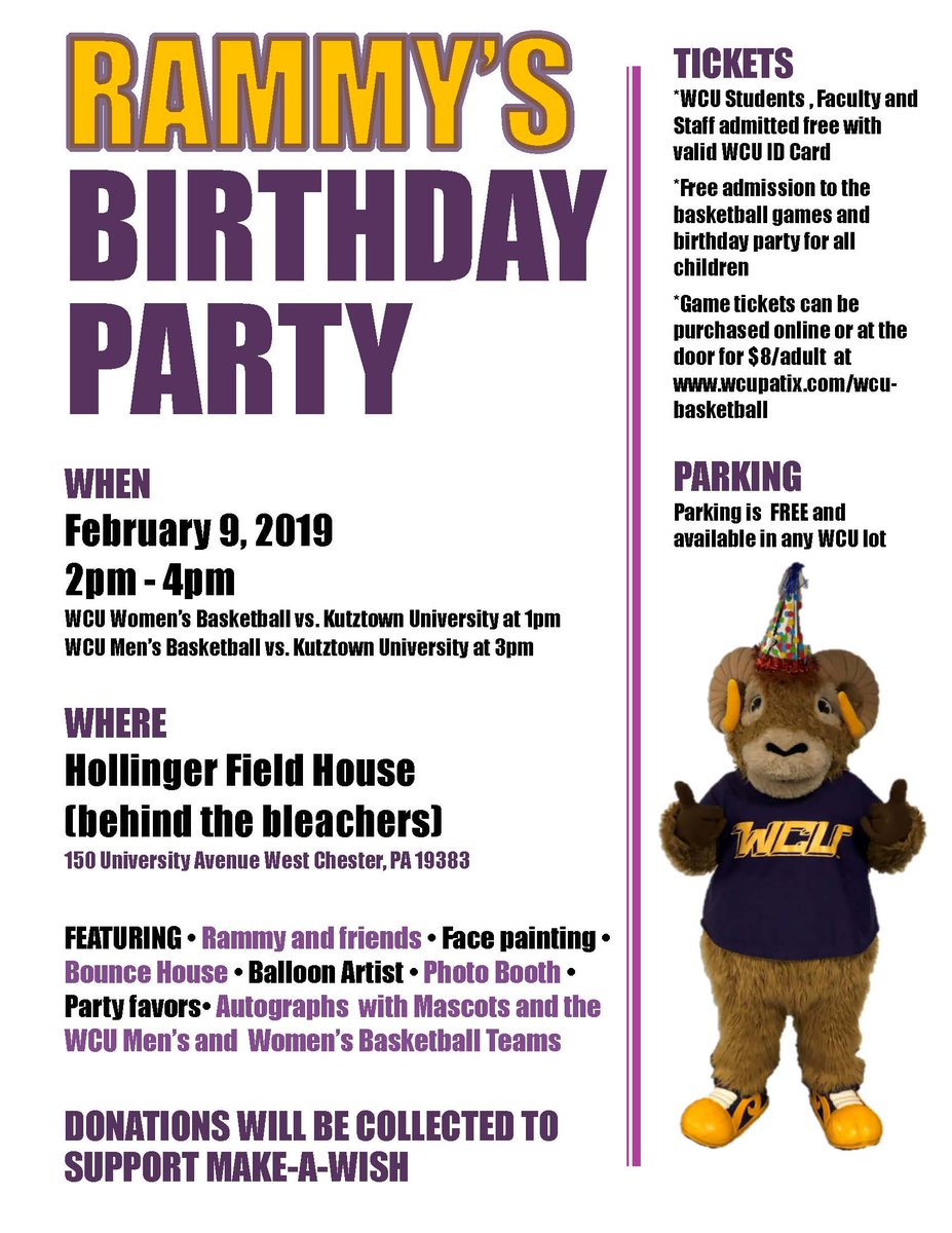 It's Rammy's Birthday! Let's celebrate!! #WCUevent #RamsUP #WestChesterTogether #RammyandMe