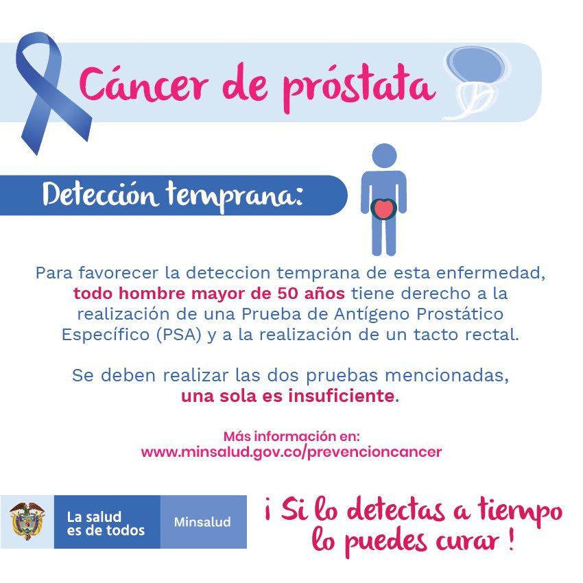 deteccion temprana de cancer de prostata colombia