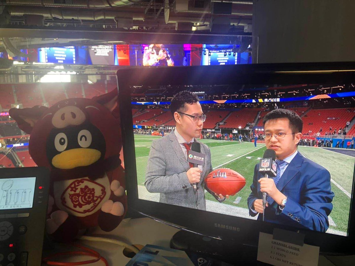 Our Super Bowl MVPs. Show some ❤️ to our dedicated China broadcasters, who spent their Chinese New Year's Eve making sure fans in 🇨🇳 were able to watch the game #NFLChina #NFL #SBLIII https://t.co/YK1a0KQcXz