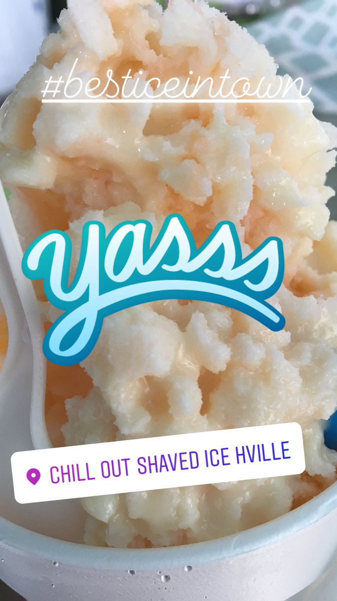 Chill out shaved ice