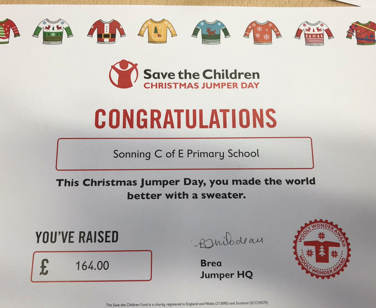 Christmas Jumper Day 2019 Save The Children.Sonning Ce Primary On Twitter Thank You To All Who