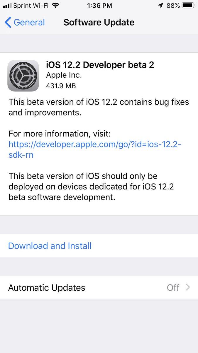 كيفية تثبيت iOS 12.2 Beta 2 بدون حساب مطور على iPhone أو iPad