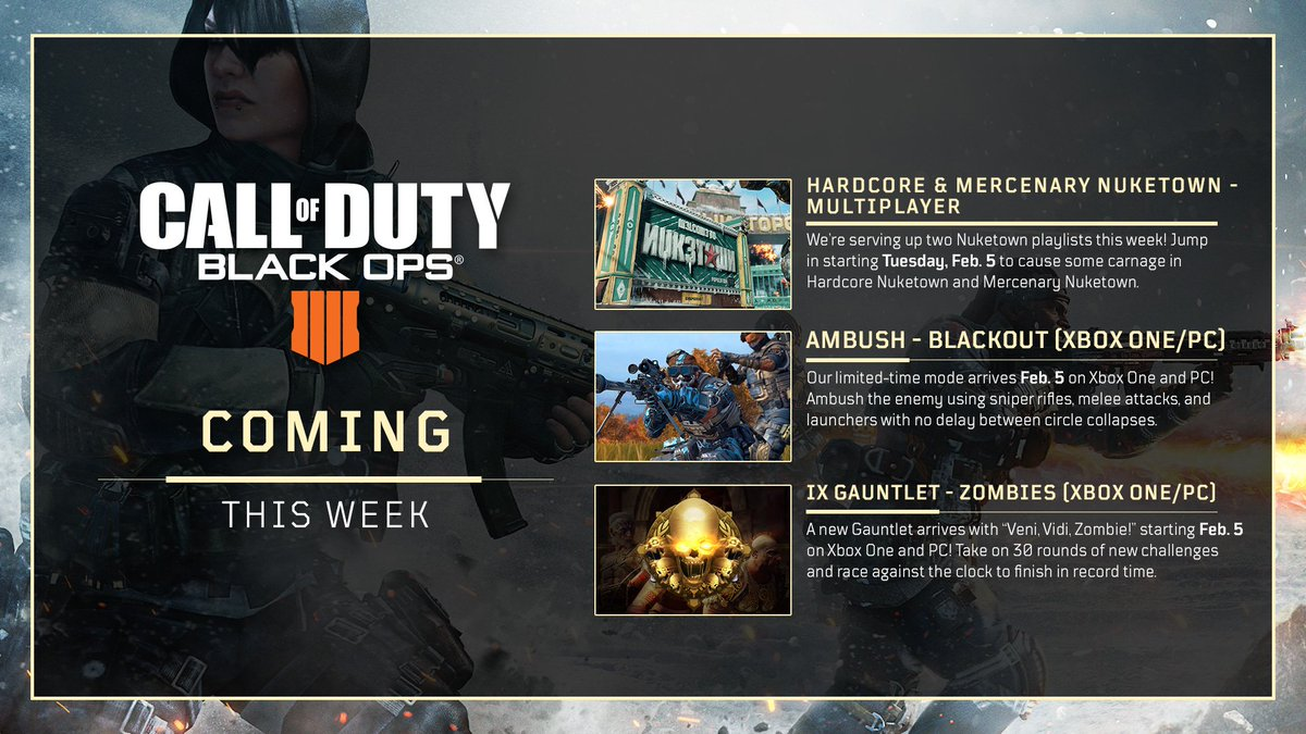 ix gauntlet xbox one pc blackout ambush limited time mode xbox one pc thursday blackout new camo progression system and zero outfit unlock - how to unblock fortnite xbox