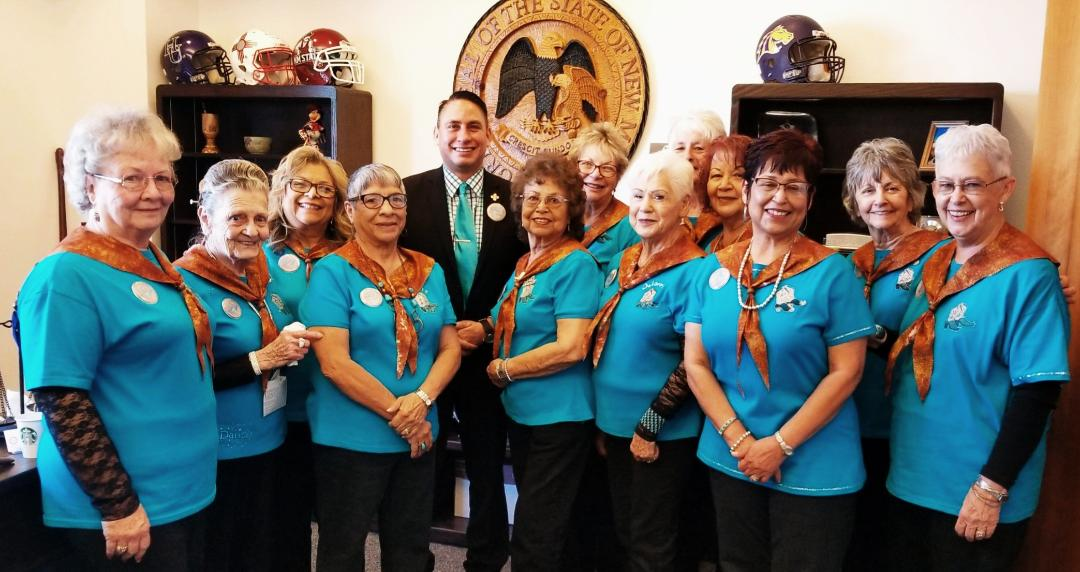 It was wonderful to see so many friends from my home Grant County who made the trip north to the Roundhouse last week, especially the fabulous Silver Stompers. Thank you, ladies! https://bit.ly/2SszhiR  #nmpol #nmleg