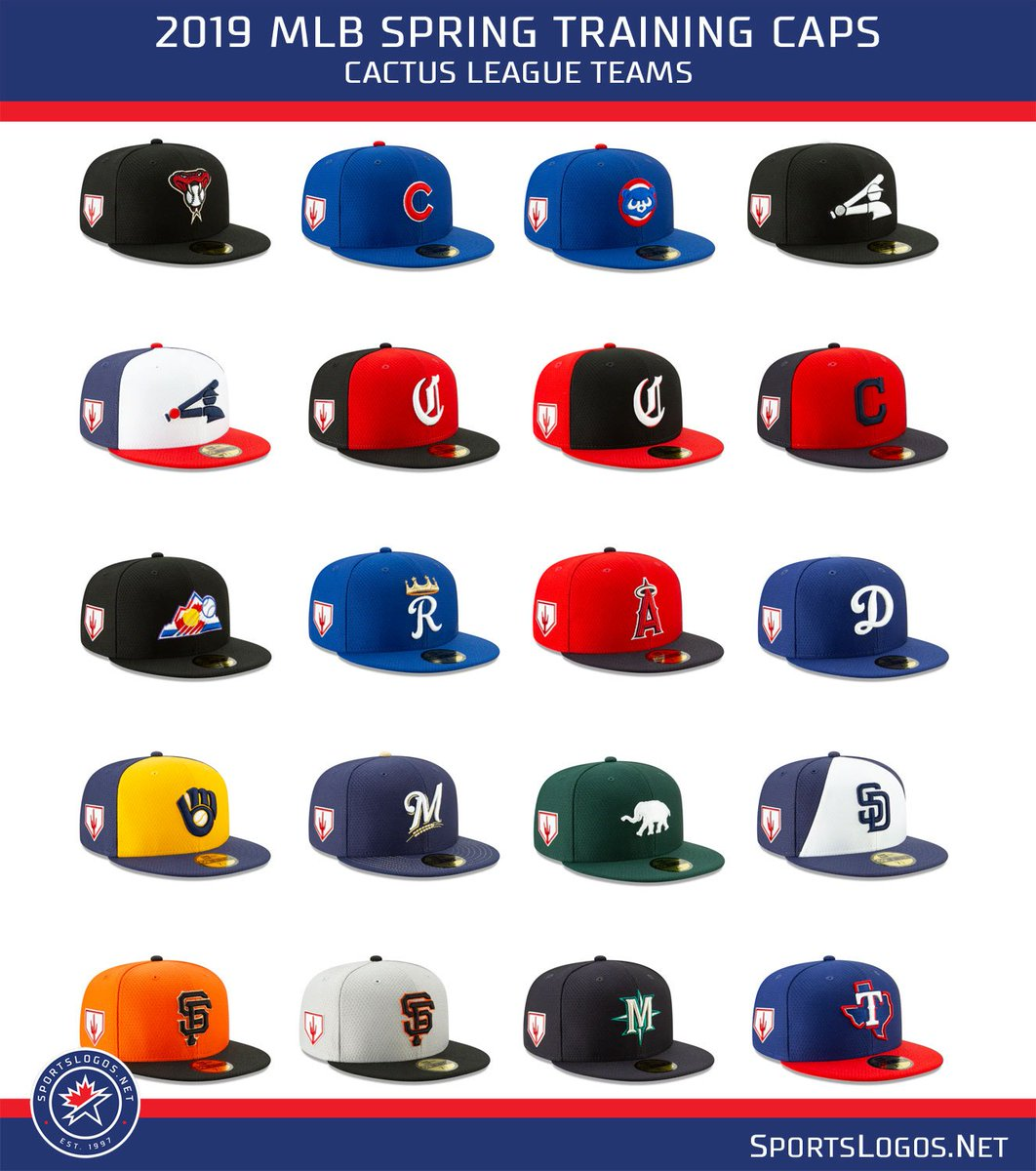 a92f7a759be Major League Baseball has released its 2019 Spring Training cap collection.   MLB  SpringTraining2019  NewEra Details
