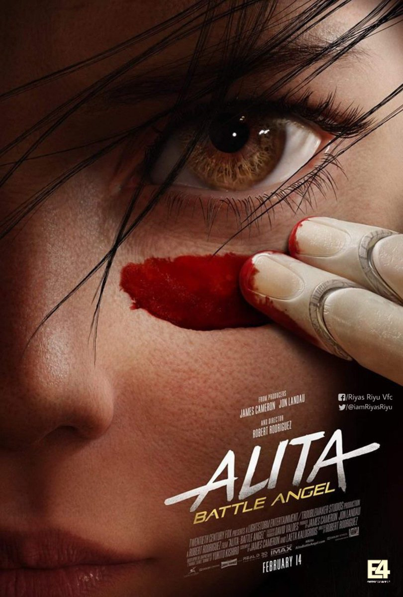 #AlitaBattleAngel Kerala Theatrical Distribution Rights bugged by #E4entertainment   In Cinemas 14th Feb.  @e4echennai @Forumkeralam1 @SSTweeps @MoviePlanet8 @KeralaProducers