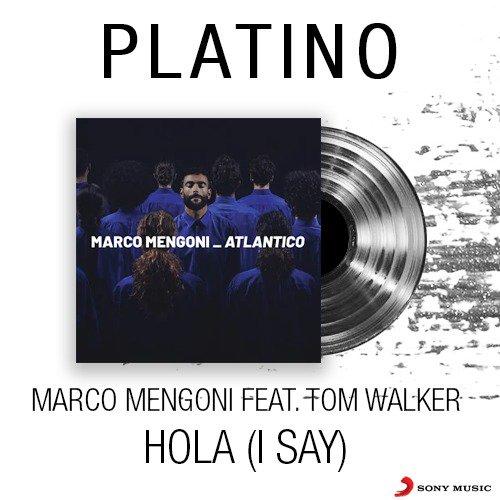 Complimenti a @mengonimarco e @IamTomWalker! 👏 #Hola (I SAY) ottiene il DISCO DI PLATINO 💿