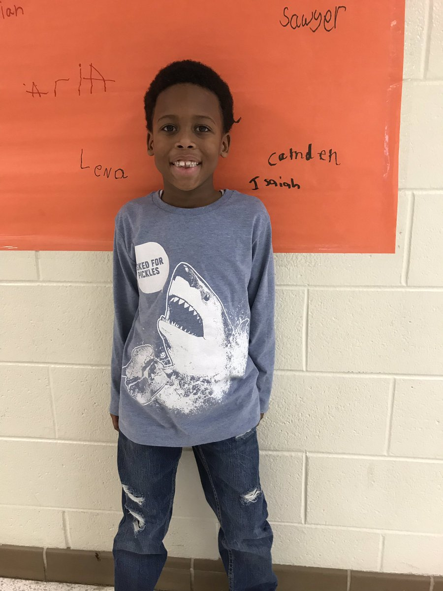 Isaiah consistently puts forth his best effort and strives to go above and beyond. He participates and leads!