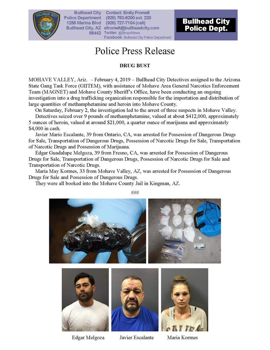 Bullhead City Drug Bust