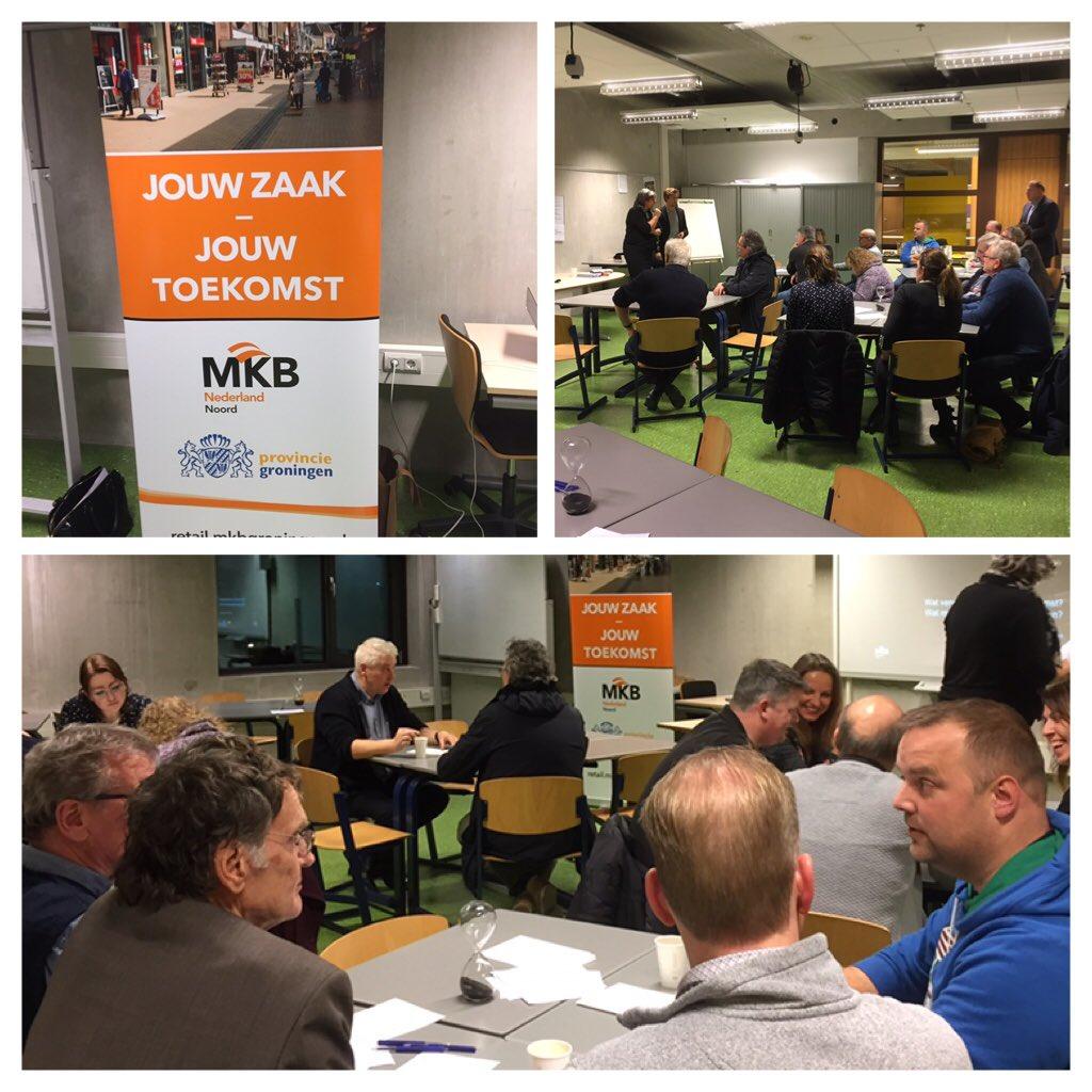 Tweede bijeenkomst van Jouw Zaak - Jouw Toekomst van @mkbnlnoord en de provincie Groningen voor retailers in Winschoten. Over klantverwachtingen, kansen en vernieuwend ondernemen. https://t.co/HhJQhG9Mbt
